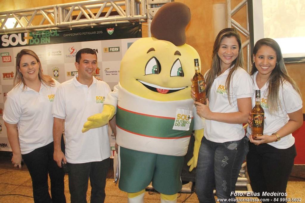 O Cajulino também esteve presente ao evento na churrascaria Sal e Brasa. (Foto: Elias Medeiros)
